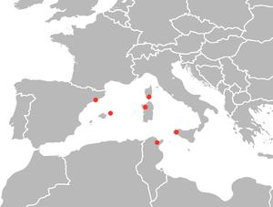 Schmidtea mediterranea - Image: Smed distribution