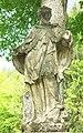 Socha svatého Jana Nepomuckého u silnice severozápadně od hradu Pernštejn (Q62018659) 02.jpg