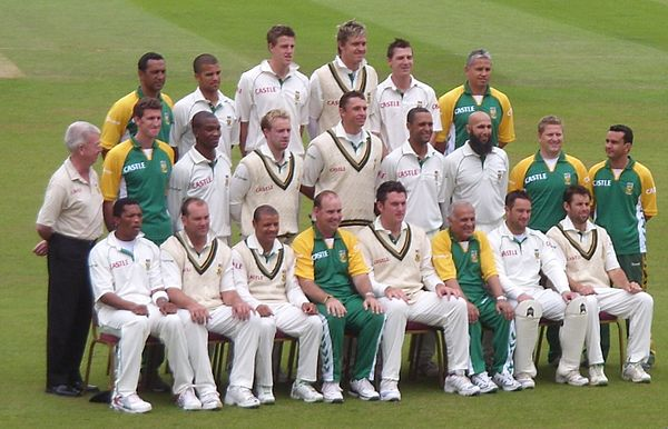The South African team at The Oval in August 2008. South African Cricket team 2008.jpg