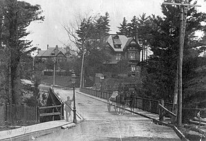 Rosedale, Toronto - Glen Road bridge, c. 1885-95