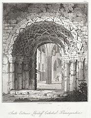 South entrance, Llandaff cathedral, Glamorganshire