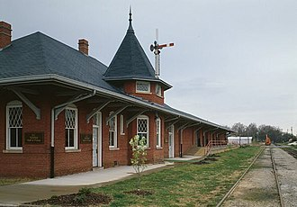 National Register of Historic Places listings in Anderson County, South Carolina - Image: Southern Railway Combined Depot, West side of Belton Public Square, Belton (Anderson County, South Carolina)