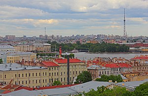 Saint Petersburg TV Tower - Image: Spb Views from Isaac Cathedral May 2012 06