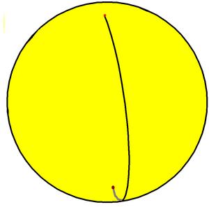 Monogon - Image: Spherical henagonal hosohedron
