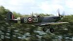 Spitfire MH434 - Flaps down for landing - Goodwood Revival 2010 (5741185622).jpg