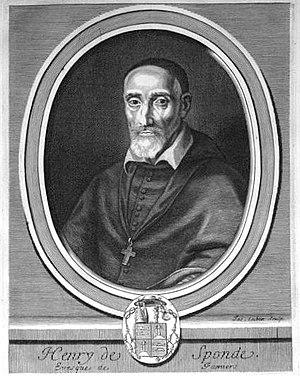 Henri Spondanus - Henri de Sponde, Bishop of Pamiers (1626-1641)
