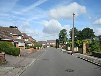 Coldblow - Image: St Mary's Road, Coldblow geograph.org.uk 1424667