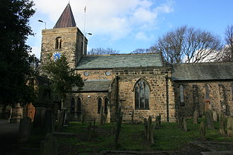 Newburn - St Michael and All Angel's church in April 2010