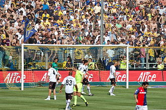 Stadio Ennio Tardini - The Curva Nord during Parma's match against Genoa on 4 May 2008.