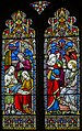 Stained glass window, St George's church, Brede (16203482496).jpg