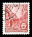 Stamps GDR, Fuenfjahrplan, 24 Pfennig, Buchdruck 1953, 1957.jpg