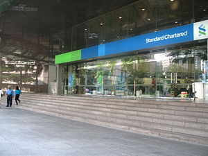 A Standard Chartered Bank in Singapore.