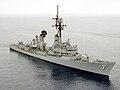 Starboard bow view of USS Henry B. Wilson (DDG-7), 1983.jpg