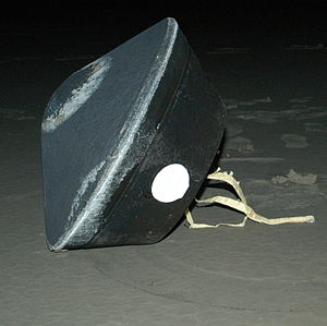 Stardust (spacecraft) - Landing capsule as seen by the recovery team.