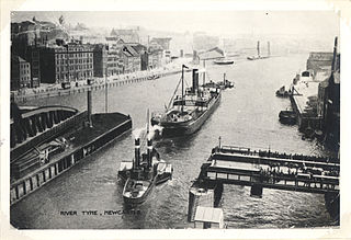 Postcard of a steam tug called Vigilant coming through the swing bridge in Newcastle.