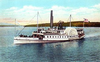 Meredith, New Hampshire - Original SS Mount Washington (1872-1939). Image c. 1920