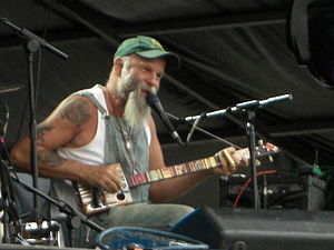 Seasick Steve - Wold performing in 2009 at the Hard Rock Calling festival in London's Hyde Park
