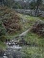 Stile and footpath under Man Crag - geograph.org.uk - 987479.jpg