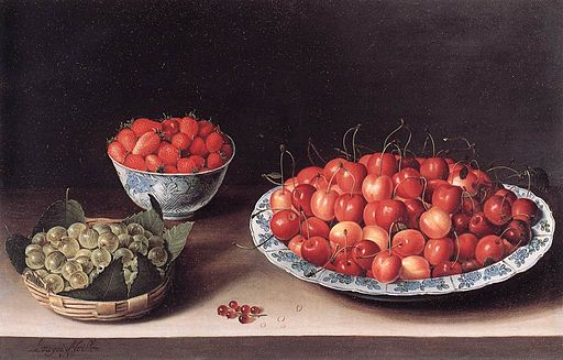 Still-Life with Cherries Strawberries and Gooseberries 1630 Moillon