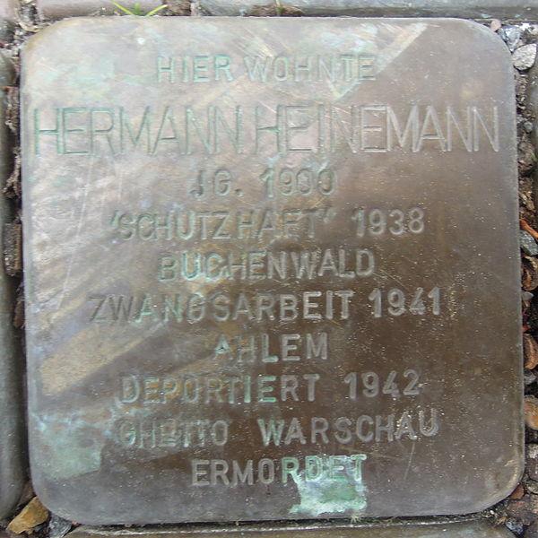 File:Stolperstein Rinteln Bäckerstraße 53 Hermann Heinemann.jpg