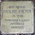 Stolperstein Stierstr 18 (Fried) Pauline Freyer.jpg