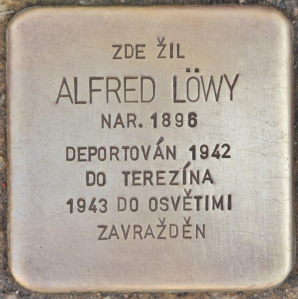 Stolperstein für Alfred Löwy (Horaždovice).jpg
