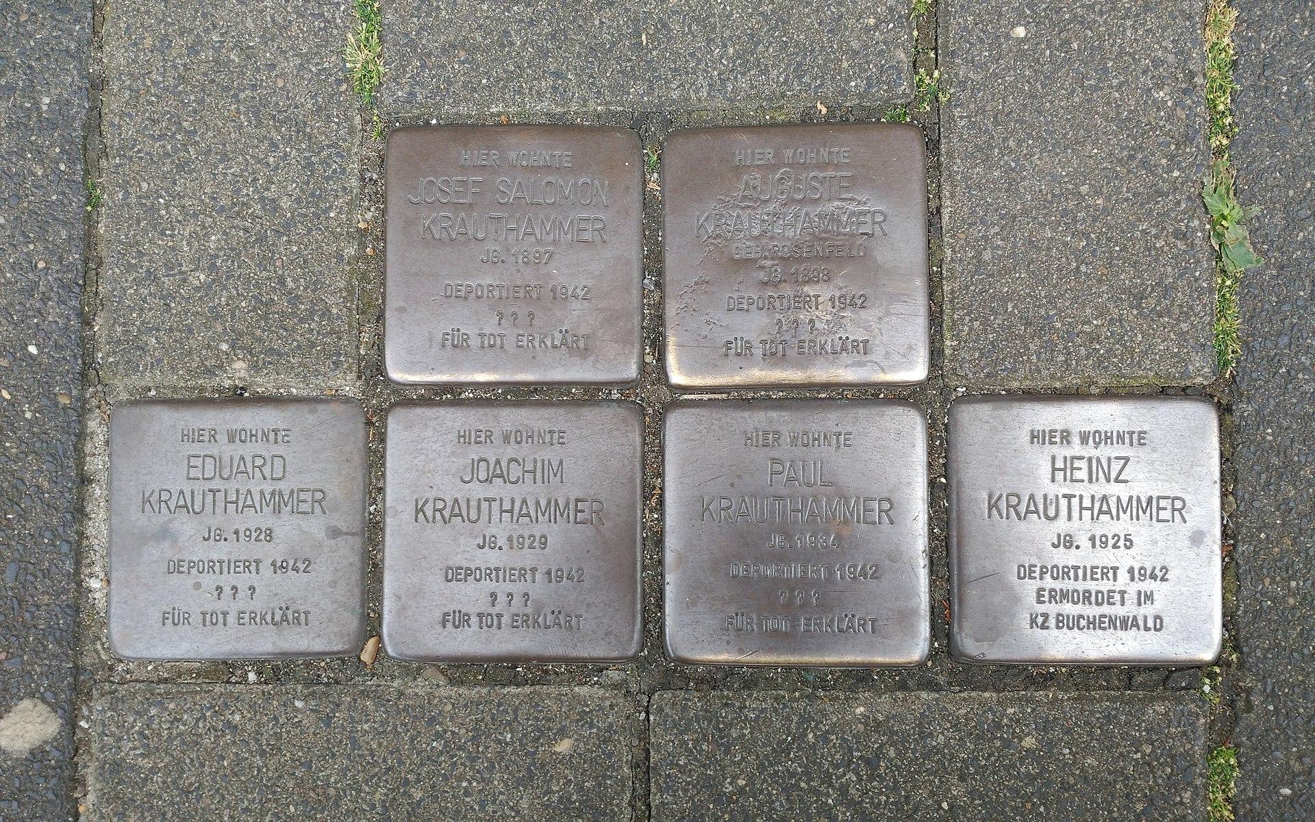 Stolpersteine für Familie Krauthammer, Bottrop