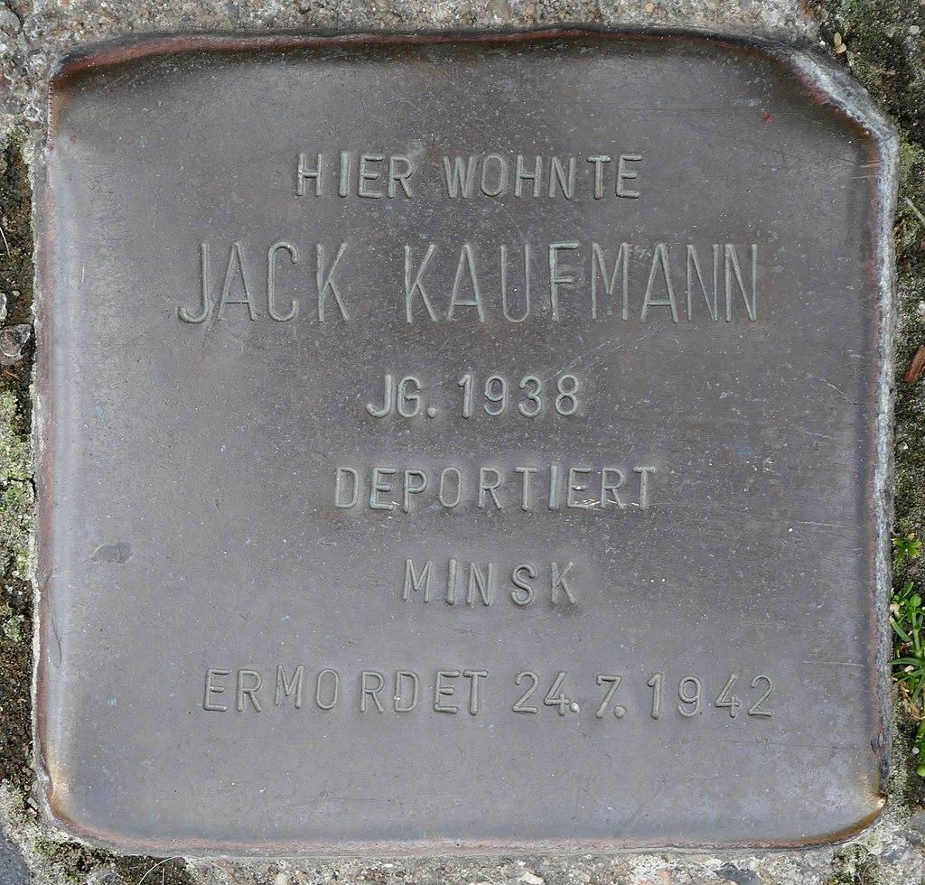 Stolpersteine Kommern, Jack Kaufmann (Mühlengasse 24).jpg