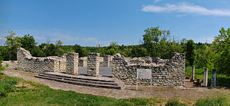 Storgosia - Overview of the late Roman basilica and adjacent ruins of Storgosia