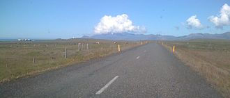 Atmospheric pressure - A very local storm above Snæfellsjökull, showing clouds formed on the mountain by orographic lift