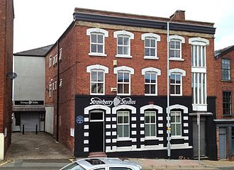 Strawberry Studios - Image of the former Strawberry Studios building in Stockport, taken in 2013