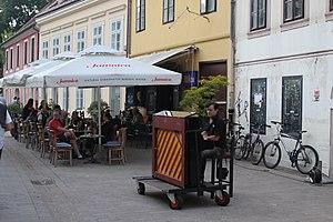 Tkalčićeva Street - Street pianist in the Tkalčićeva street.