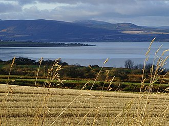 Black Isle - Looking northwest across Newhall Point from a stubble field near Allerton, Black Isle, 4 km from Cromarty