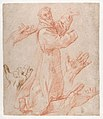 Studies for a Figure of Saint Francis Kneeling in a Three-Quarter View and for His Hands (recto); Studies for a Figure of Saint Francis Kneeling in Profile (verso) MET DP868315.jpg