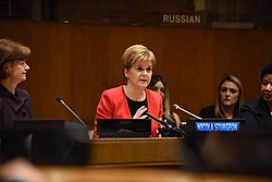 Sturgeon addresses the United Nations, 2017