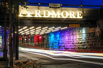 Ardmore, Pennsylvania - The exit to the Suburban Square in Ardmore