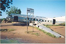Sudan Rumbek aircraft beside airstrip 2004.jpg