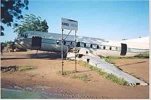 Sudan Rumbek aircraft beside airstrip 2004.jpg