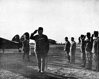 Hajime Sugiyama - Sugiyama at an airfield, June 1, 1943