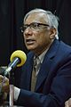 Sukanta Chaudhuri - Panel Discussion - Collaboration with Academic Institutes for the Growth of Wikimedia Projects in Indian Languages - Bengali Wikipedia 10th Anniversary Celebration - Jadavpur University - Kolkata 2015-01-10 3388.JPG