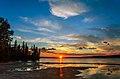 Sunset on the Waskesiu Lake in Prince Albert National Park Saskatchewan, Canada.jpg