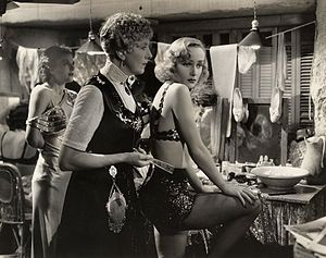 Cecil Cunningham - Cecil Cunningham (middle) with Carole Lombard, in Swing High, Swing Low (1937)