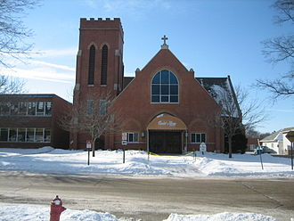Churches in Sycamore Historic District - St. Mary's Roman Catholic Church.