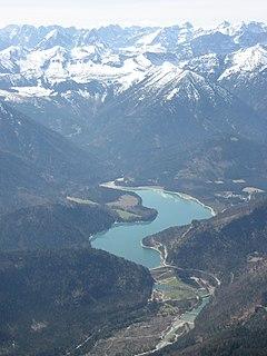 Sylvenstein Dam dam in Germany