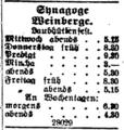 Synagoga vinohrady zmanim 1916.png