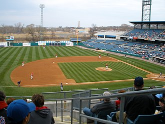 NBT Bank Stadium - Image: Syracuse Chiefs At Alliance Bank Stadium