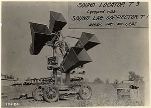 Acoustic location - T3 sound locator 1927