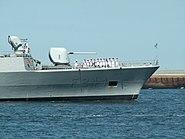 TCG Barbaros F244 bow at IJmuiden, Port of Amsterdam