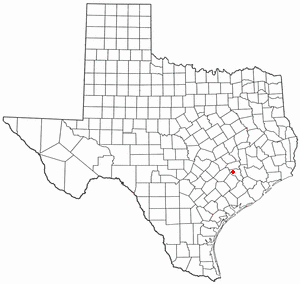 Industry, Texas - Image: TX Map doton Industry