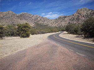 Texas State Highway 166 - Image: TX 166 Sawtooth Mountain